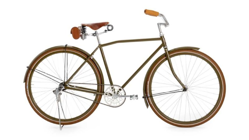 Harley-Davidson bicycle is from the early 20th century – or at least it looks that way.