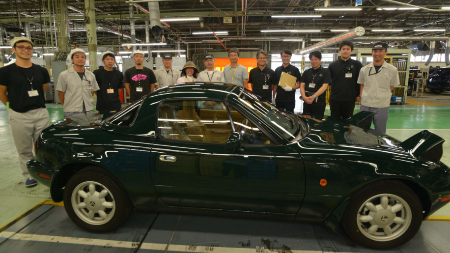 Mazda hands over first factory-restored Miata
