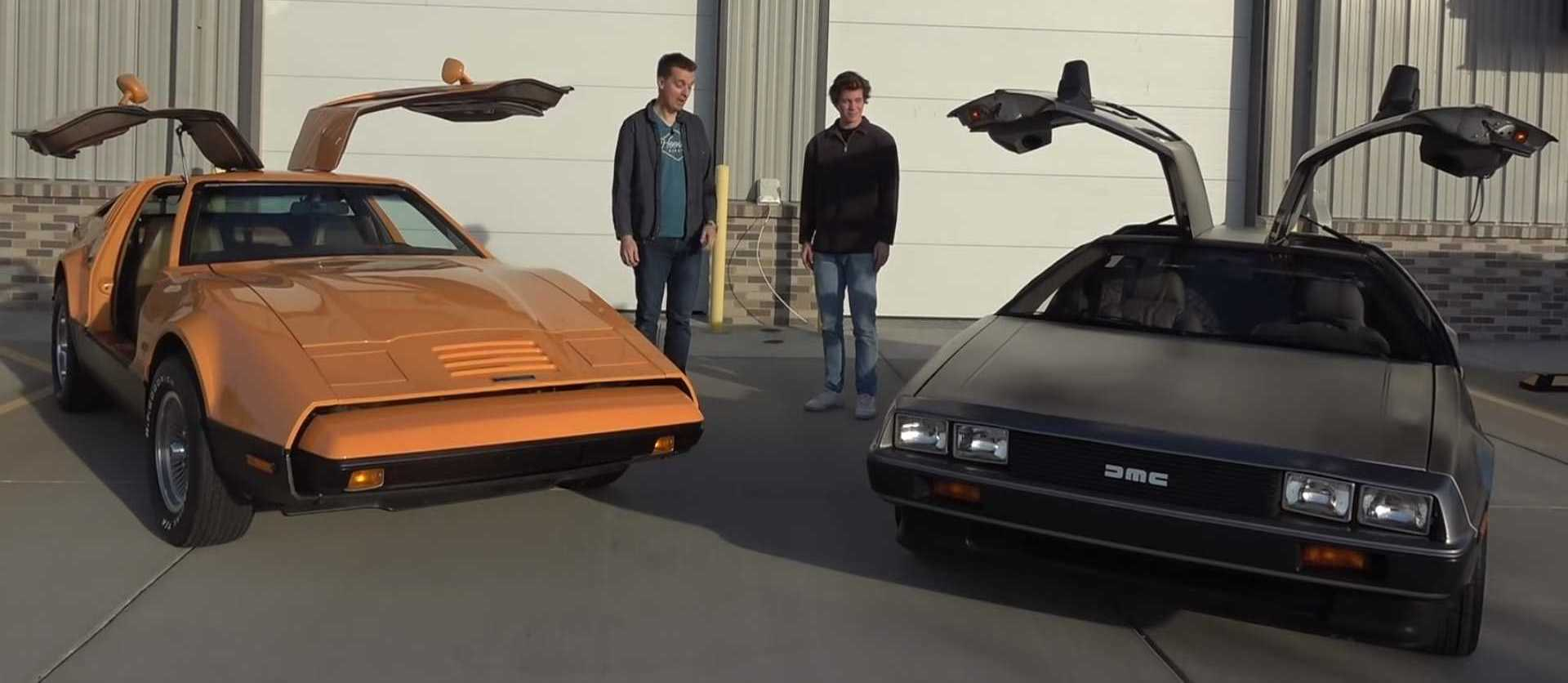 DeLorean Vs. Bricklin Drag Race Is Vintage Gullwing Gold