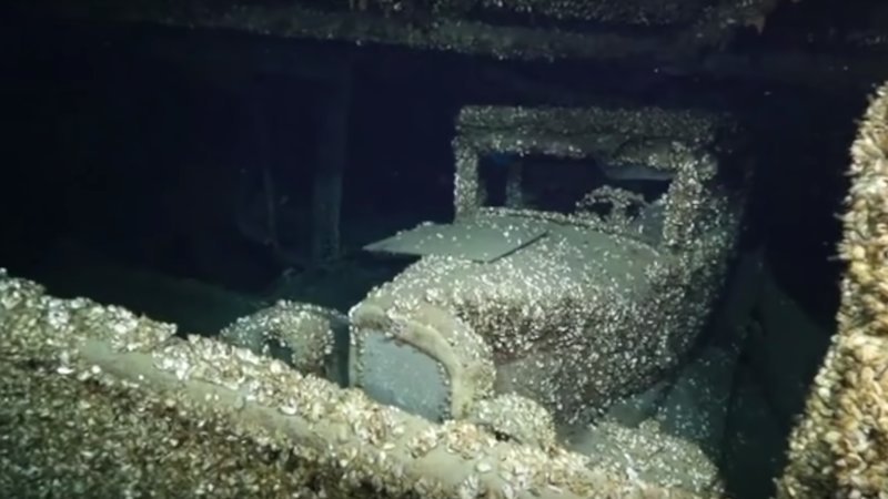 Barnacle find: Complete 1927 Chevrolet found aboard Lake Huron shipwreck