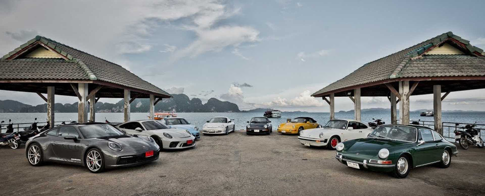 Watch All Eight Porsche 911 Generations Hit The Open Road