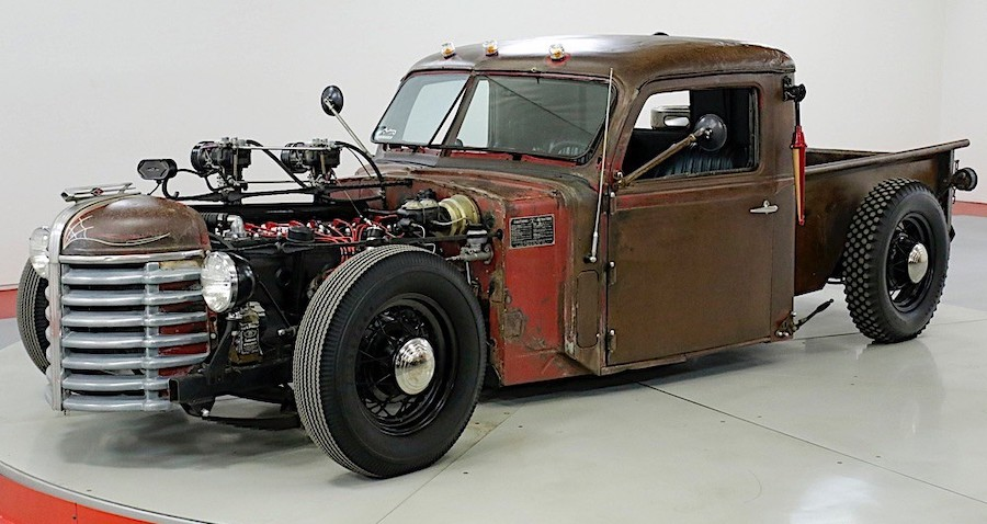 1948 Diamond T Rat Rod Comes with a Beer Keg for a Tank and Flamethrower Exhaust