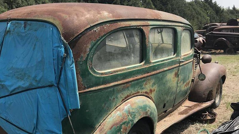 An 80-car Kansas mystery lot is listed for $425,000