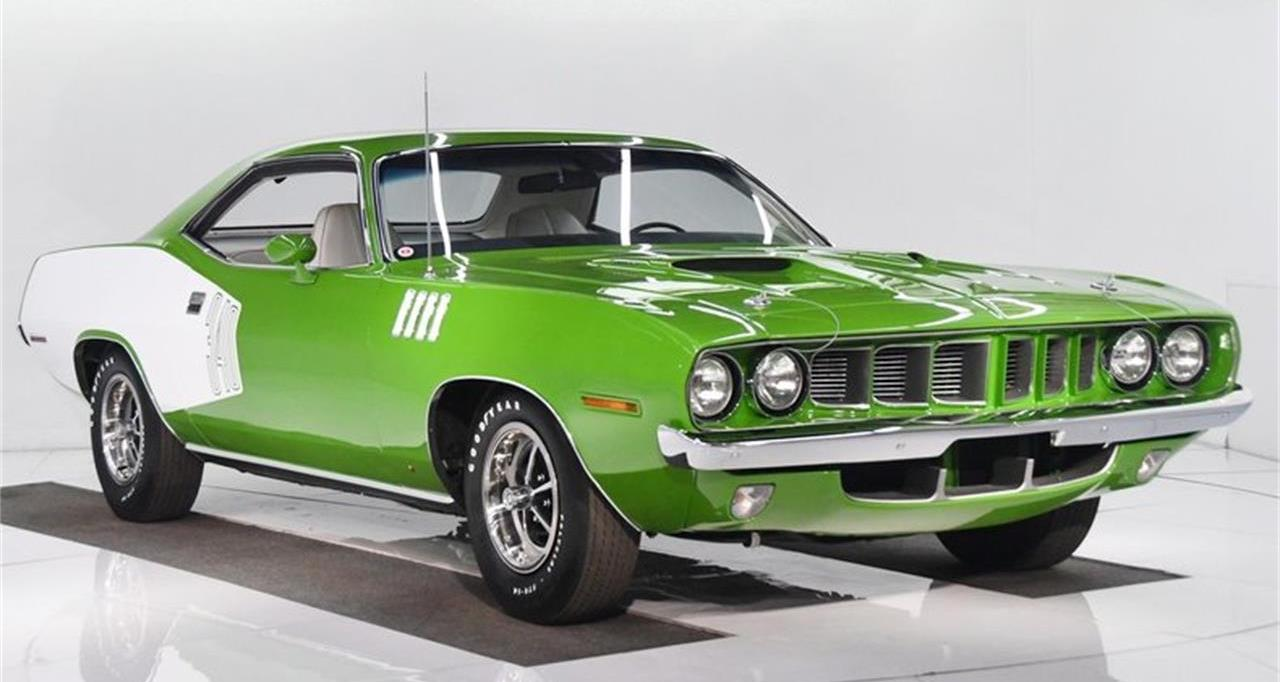 Restored 1971 Plymouth Barracuda Is the Green Treat of the Week