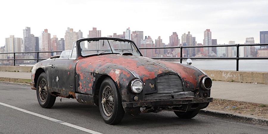 Ruined 1952 Aston Martin DB2 Drophead Is Neglect Selling for a Six Digit Figure