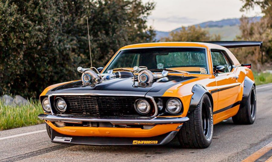 Widebody Twin-Turbo 1969 Ford Mustang Is Ready to Shock You