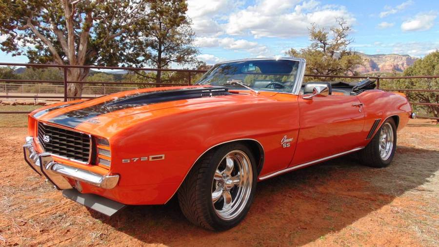 This 1969 Chevrolet Camaro RS/SS in Hugger Orange Packs a Monster Engine