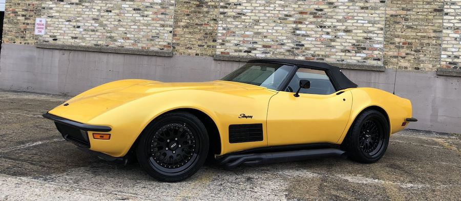 "1970 Corvette ""Crusher"" Restomod Has Supercharged 408 and Lambo Paint"