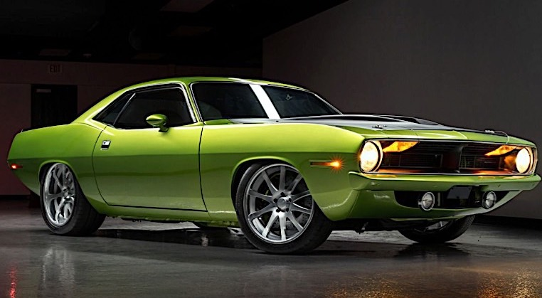 Custom 1970 Plymouth Cuda Looks Better Than a Viper in Snakeskin Green