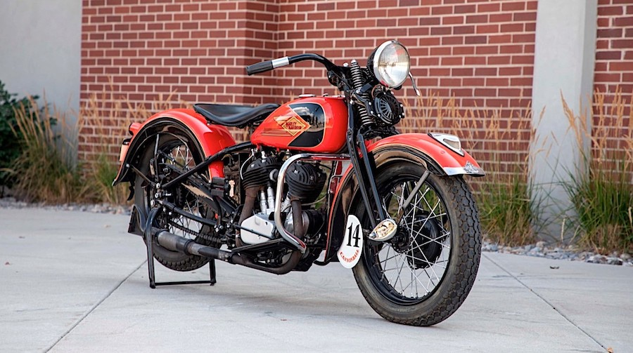Old School 1935 Harley-Davidson RL 45 Was Built for Solo Riders