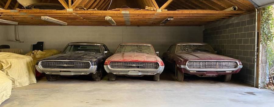 These 1967 and 1968 Ford Thunderbirds Spent 30 Years in Storage, Look Stunning